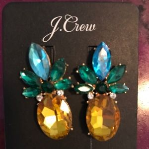 J. Crew Crystal Pineapple Earrings
